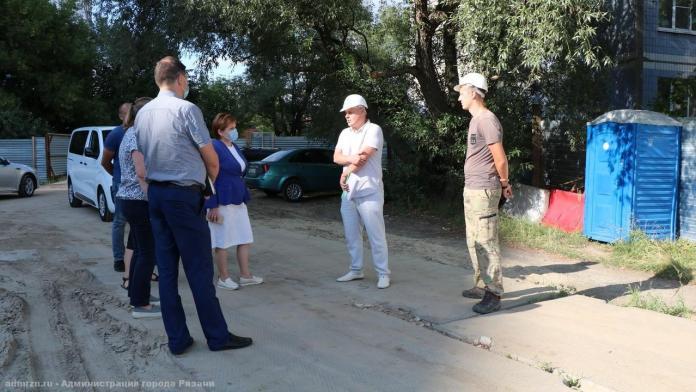 Елена Сорокина осмотрела ход строительства яслей в Рязани
