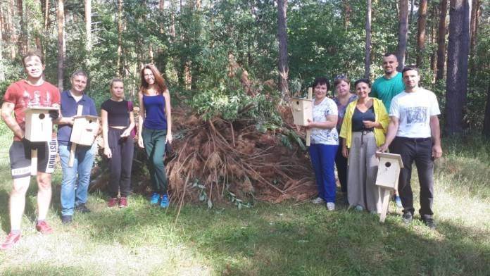 Волонтеры Рязанского Сбера привезли подарки журавлям
