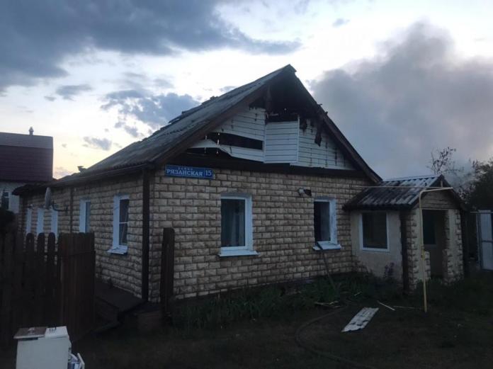 В Спасском районе загорелась дача