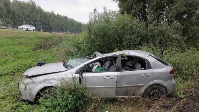 В Александро-Невском районе Chevrolet Lacetti улетел в кювет
