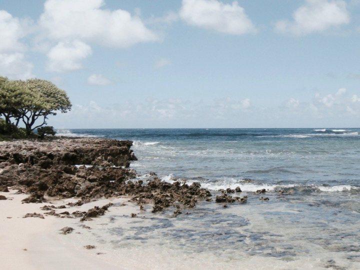 selbstfindungsreise hawaii strand stein