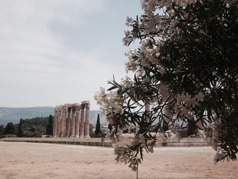Die Ruinen vom Olympieion, der Tempel des Olympischen Zeus.