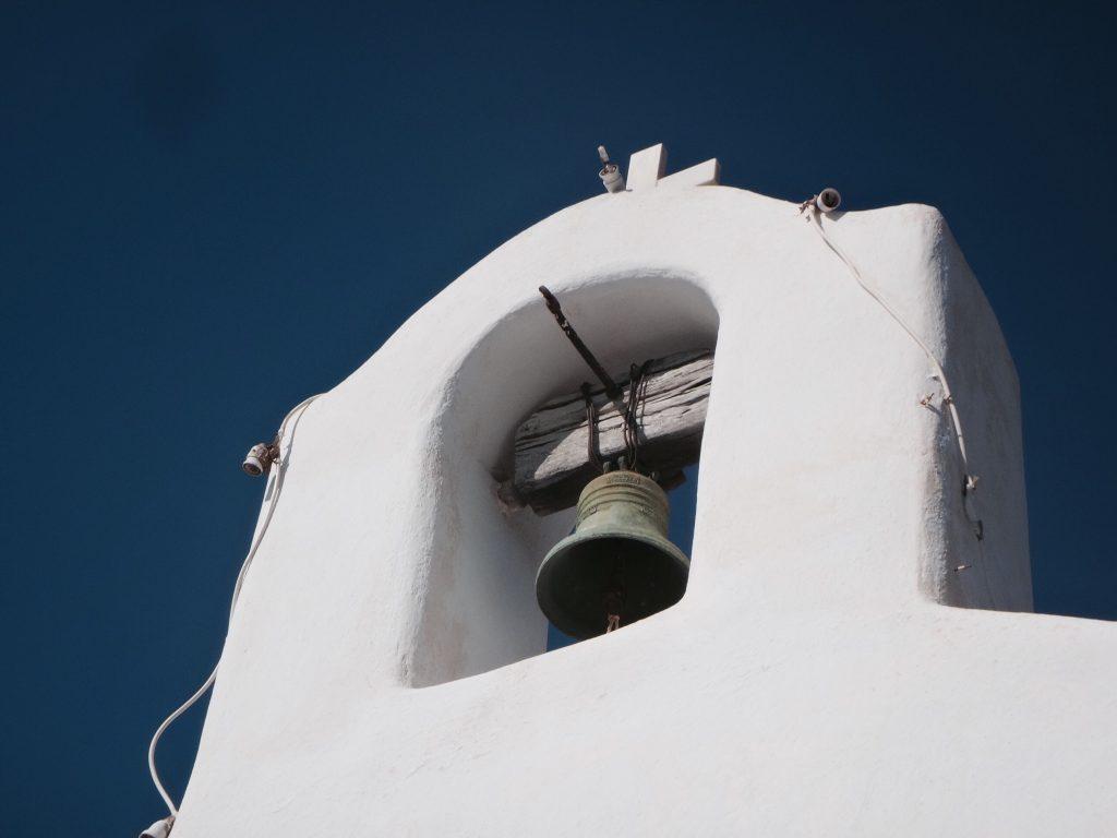 santorini fira oia imerovigli glocke kapelle