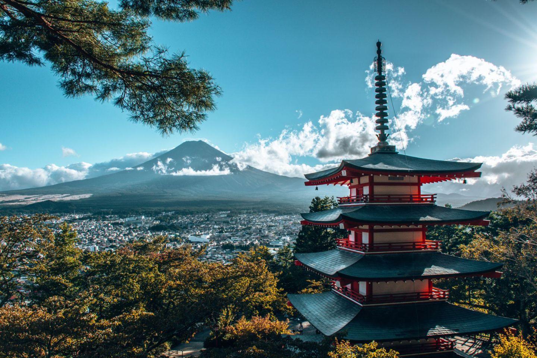 fuji japan chureito pagode tempel