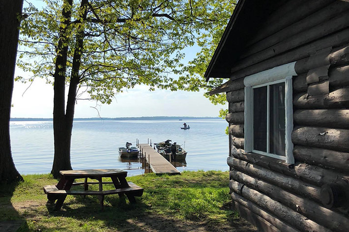 Cabin and dock on Paradise Lake