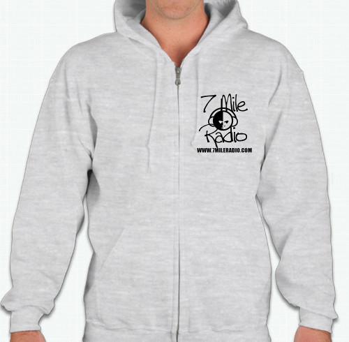 7mile-radio-grey-zip-hoodie-front
