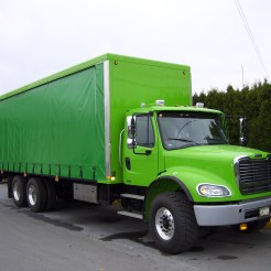 Freightliner of Vancouver - Big Green Curtainside (1)