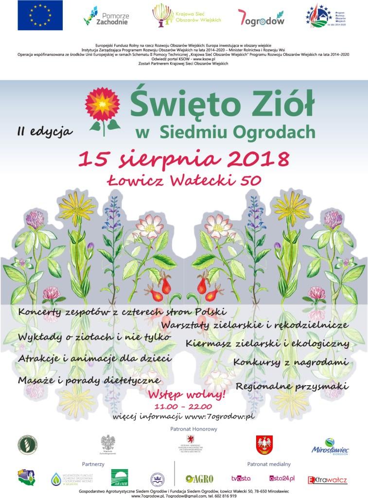 Plakat II edycja Swieta Ziol ostatnia wersja
