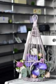 композиция в подарок, орхидеи, тюльпаны, розы