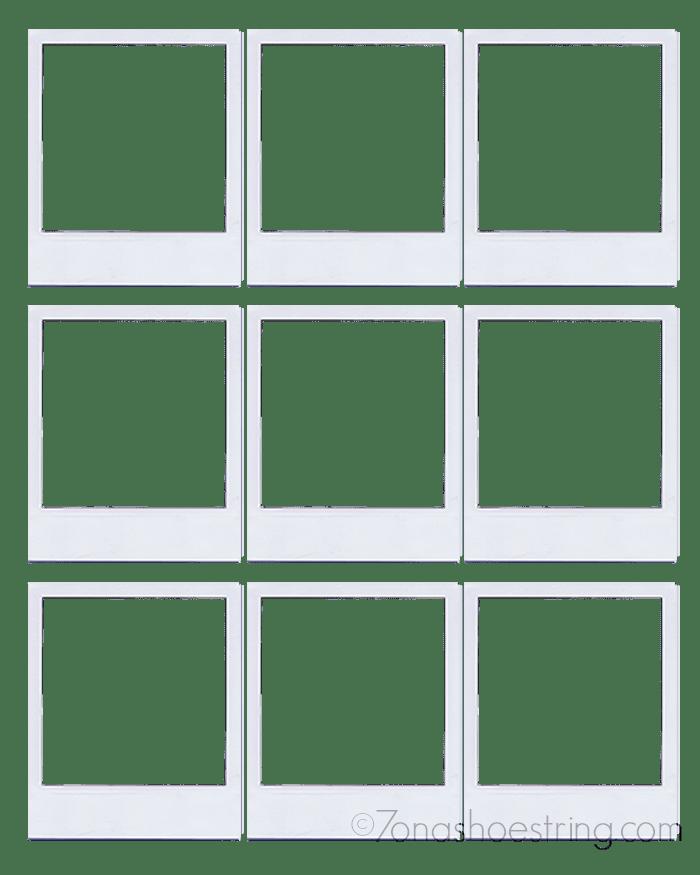 Polaroid Template polaroid magnets and templates on pinterest – Polaroid Template