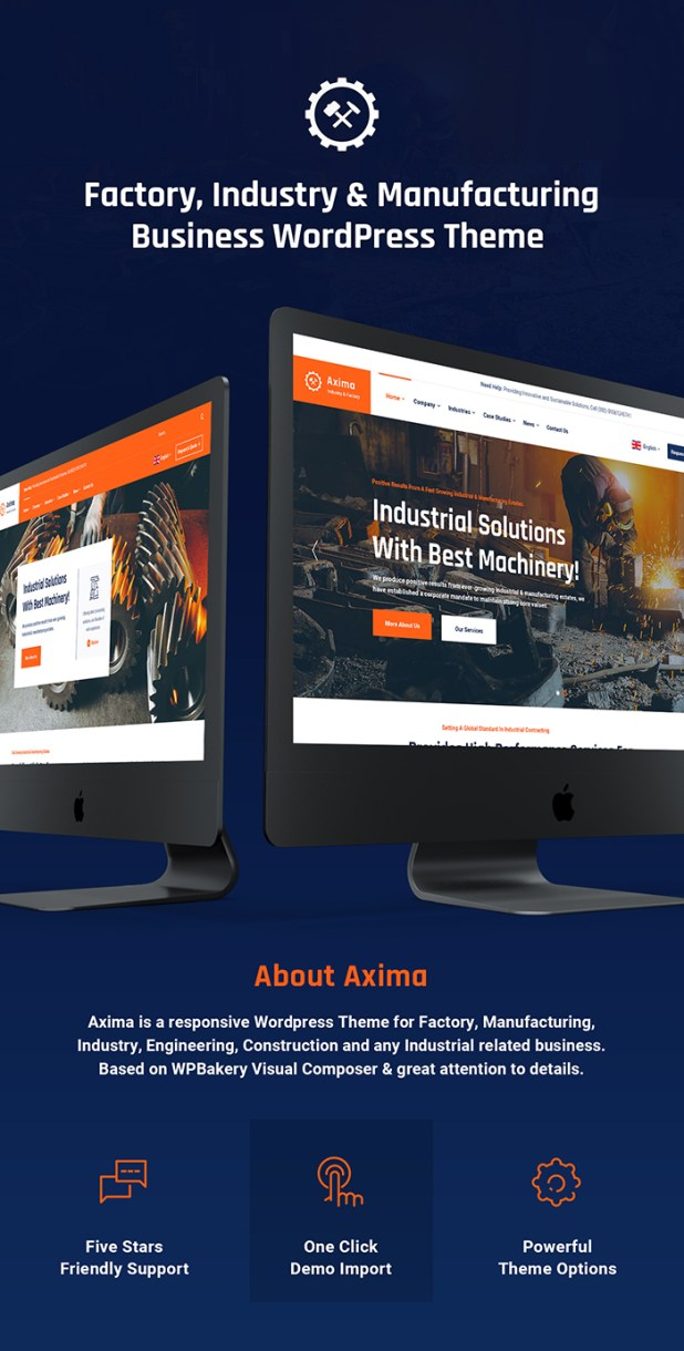 Axima - Factory and Industry WordPress Theme - 4