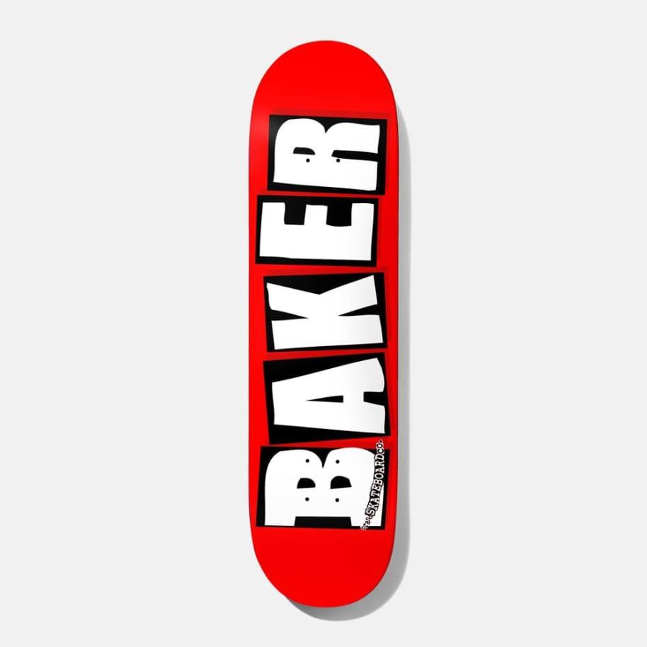 """Baker Skateboards Brand Logo Red/White Skateboard Deck - 8"""""""