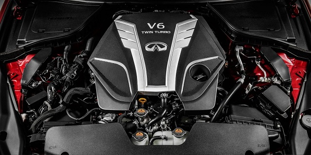 2021 Infiniti QX80 twin turbo engine