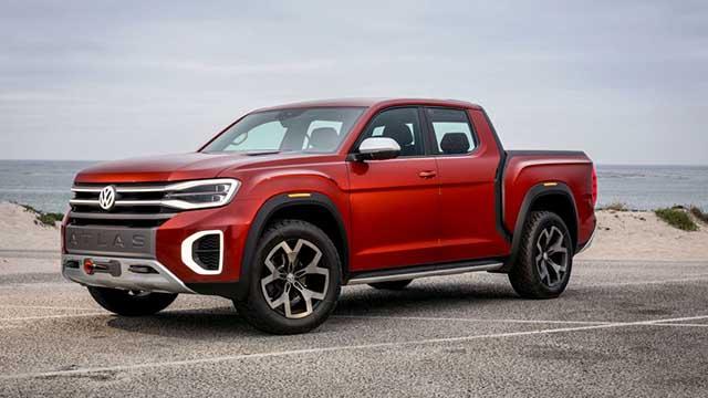 2020 VW Atlas tanoak pickup truck concept