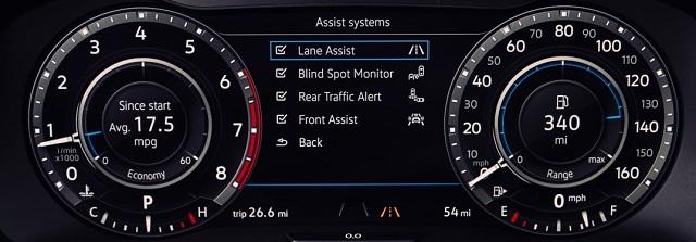 2021 VW Atlas Digital Cockpit