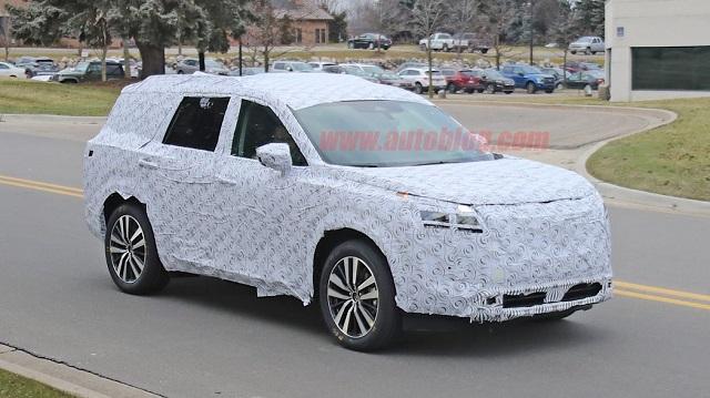 2021 Nissan Pathfinder Redesign Spy shot