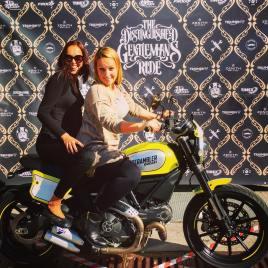 Ladies having fun at #dgr2016 #ljubljana #slovenia #ducati #ducatiscrambler #charityevent #gentlemansride @gentlemansride @scramblerducati @ducatidaily @ducati_official #77 #77c #7sevencustoms