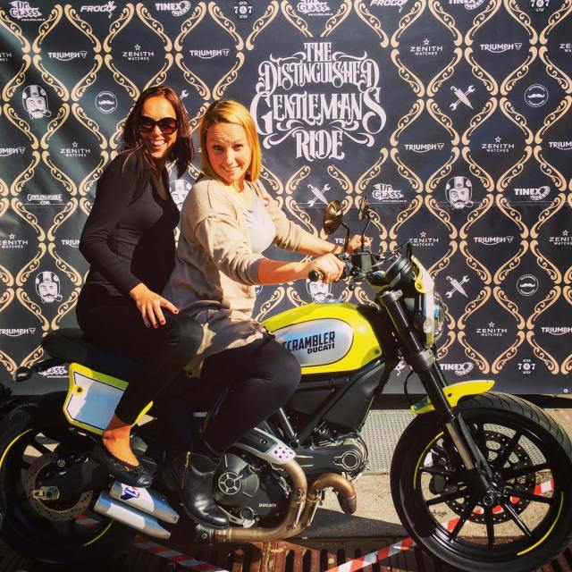 Ladies having fun at dgr2016 ljubljana slovenia ducati ducatiscrambler charityeventhellip
