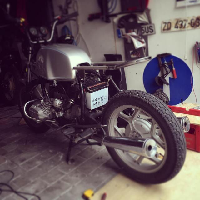 Work in progress 77 77c 7sevencustoms custom motorcycle scrambler bmwhellip