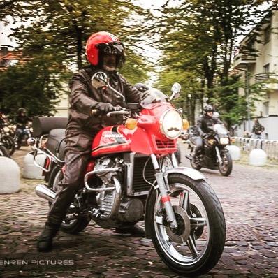 Oldtimer amp his Honda CX500 ljubljana classics 7sevencustoms