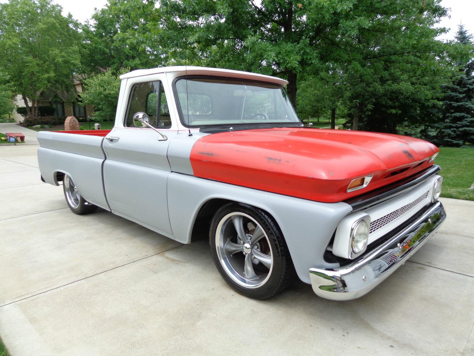 1966 Chevy C10 Resto Mod 7seven Custom Garage Newer Radiator Late Model Master Cylinder Drop Spindle Discs Up Front Rear Adjustable Lowering Shackles On Power Disc Brakes Steering