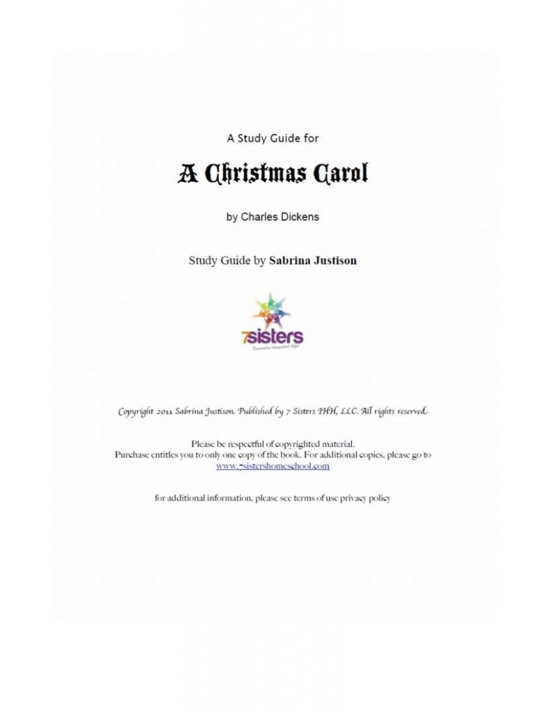 Christmas Carol Text Guide.Excerpt From A Christmas Carol Study Guide