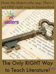 Right Way to Teach Literature 7SistersHomeschool.com