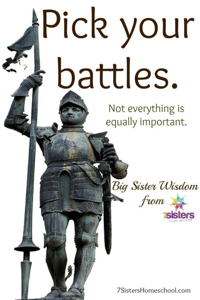 Pick your battles