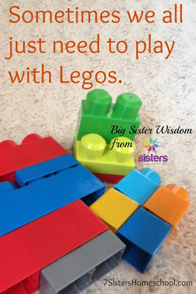 Sometimes we all just need to play with Legos