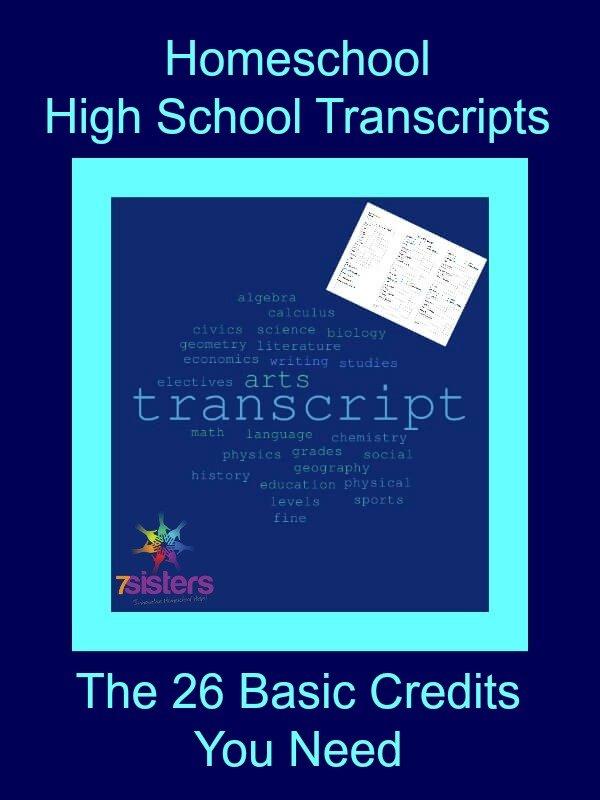 Homeschool High School Transcripts: The 26 Basic Credits You Need
