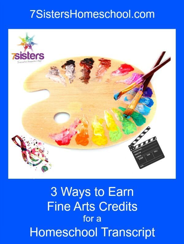 3 Ways to Earn Fine Arts Credits for a Homeschool Transcript