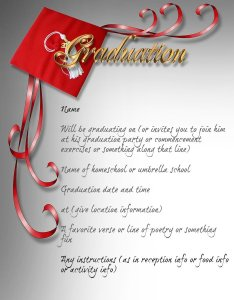 How to Make Graduation Announcements or Invitations