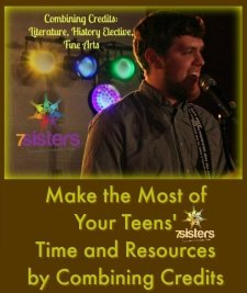 Combining Credits: Literature, History, Elective, Fine Arts 7SistersHomeschool.com