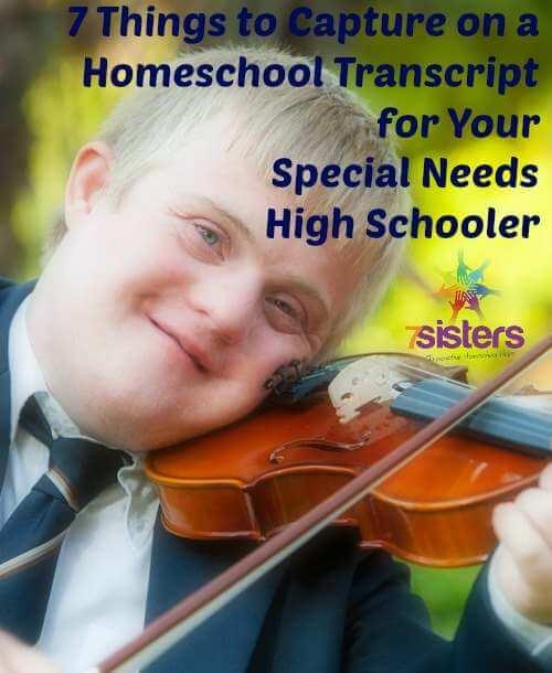 transcript for special needs high schooler