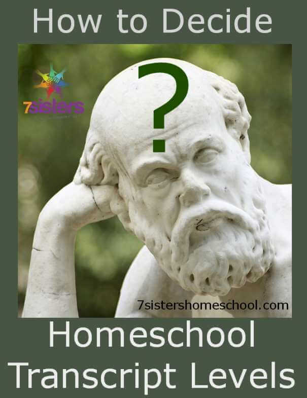 How to Decide Homeschool Transcript Levels 7SistersHomeschool.com Recording levels builds a powerful transcript. Here's how to decide when and how to level up.