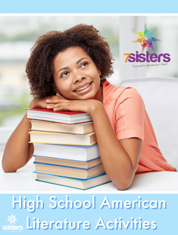 High School American Literature Activities. Homeschool high schoolers working on American Literature individually or in co-op classes can use these activities to enhance their learning experiences. #HomeschoolHighSchool #AmericanLiterature #HomeschoolAmericanLiterature #HomeschoolLanguageArts #HomeschoolEnglish
