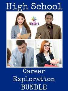 Career Exploration Bundle 7SistersHomeschool.com Comprehensive but not intimidating curriculum and activities for high school Career Exploration. #HomeschoolHighSchool #CareerExploration