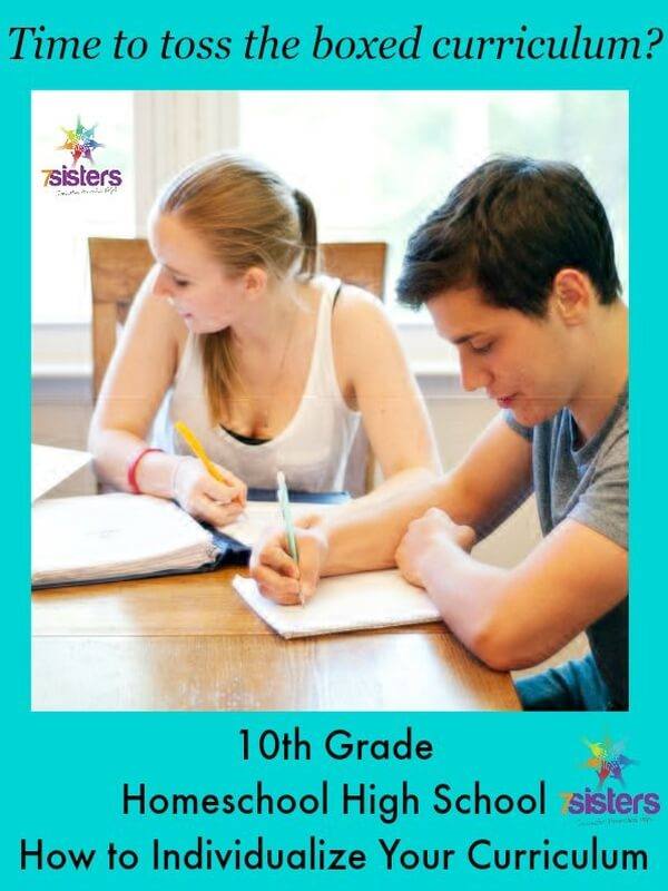 How to Individualize the Curriculum for a 10th Grader 7SistersHomeschool.com
