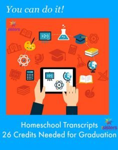 Homeschool High School Transcripts 26 Credits Needed for Graduation 7SistersHomeschool.com