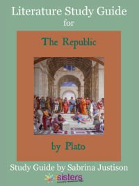 Literature Study Guide for Republic of Plato. Homeschool high schoolers get a great introduction to Plato (and Socrates' critical thinking style) with this study guide. For $4.99 your teens get an understandable introduction to this classic literature. #HomeschoolHighSchool #LiteratureStudyGuide #RepublicOfPlatoStudyGuide #PlatoStudyGuideForTeen