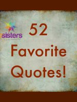 52 Favorite Quotes