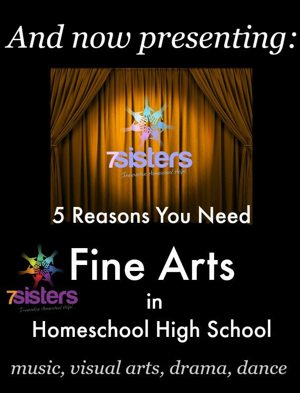 5 Reasons You Need Fine Arts in Homeschool High School. Besides being a transcript requirement, Fine Arts builds skills, intellect, character and more.