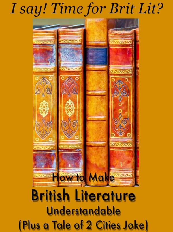 How to Make British Literature Understandable (Plus a Tale of Two Cities Joke) 7SistersHomeschool.com #HomeschoolBritishLiterature This photo shows historic library books.