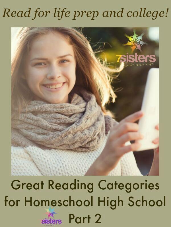 8 Great Reading Categories for Homeschool High School