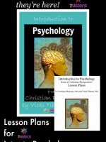 Introduction to Psychology from a Christian Perspective Lesson Plans