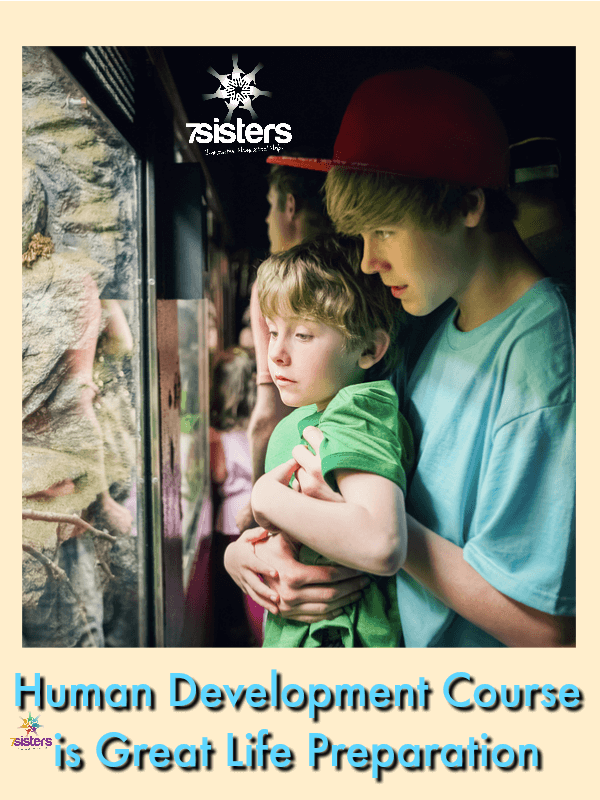 7 Ways Human Development is Great Life Preparation 7SistersHomeschool.com Human Development is an important course for homeschool high school.