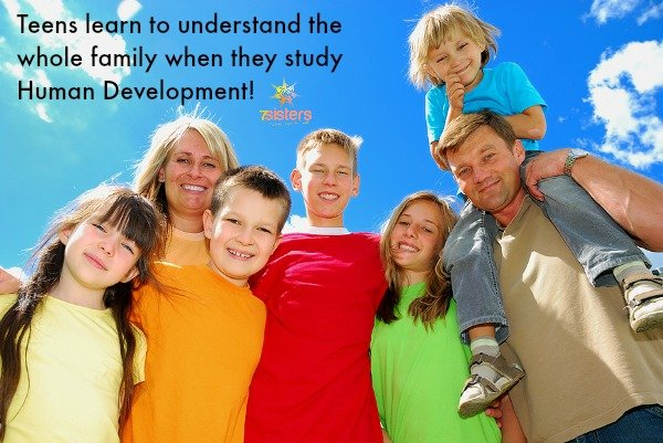 Teens learn to understand the family with Human Development 7SistersHomeschool.com