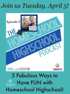 The Homeschool Highschool Podcast Episode 2: 5 Fabulous Ways to Have Fun Even When You're Homeschooling High School