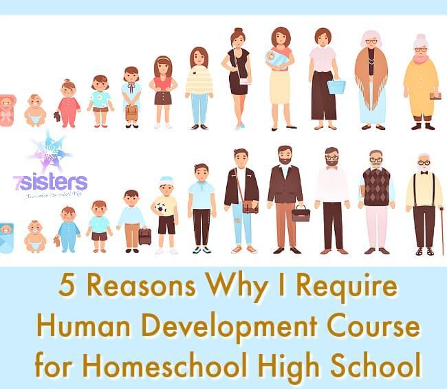 5 Reasons Why I Require Human Development Course for Homeschool High School 7SistersHomeschool.com Human Development as Social Science or Elective course for homeschool high school.