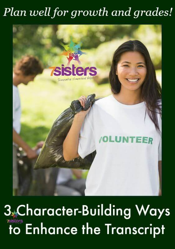 3 Character Building Ways to Enhance the Homeschool Transcript